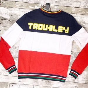 The upside color block crew neck sweater NWT